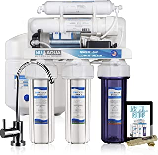 NU Aqua Platinum Series 100GPD Under Sink Reverse Osmosis Drinking Water Filtration System – Premium Water Filter (5 Stage With Pump)