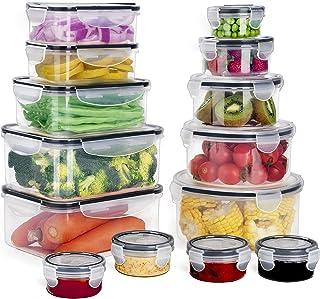 GoMaihe Récipient Boîte Alimentaire 28 pièce (14 récipient, 14 Couvercle), Plastique Boites Hermetiques avec Couvercles ét...