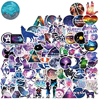 WOCOCO Stickers for Galaxy Stickers Style, 100 Pcs Vinyl Stickers for Hydro Flask Laptop Water Bottle, Waterproof, Sun Pro...