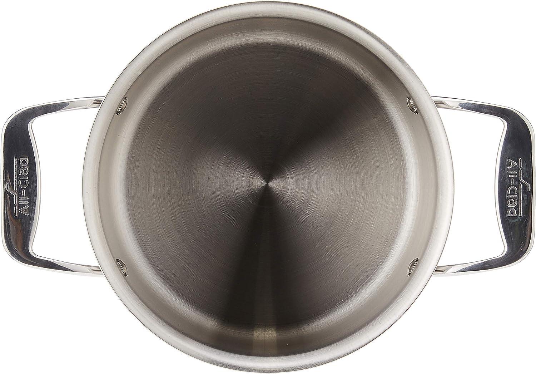 silber mit Deckel 5-lagig sp/ülmaschinenfest 4 Viertel Kochgeschirr All-Clad BD552043 D5 Suppentopf aus geb/ürstetem 18//10 Edelstahl