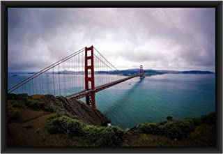 The Artist Amazing Scenery Golden Gate Bridge, San Francisco, California, USA HD Print Wall Art Framed Painting Without Gl...