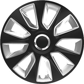 Zentimex Z778237 Radkappen Radzierblenden Universal 17 Zoll Black Silver Auto