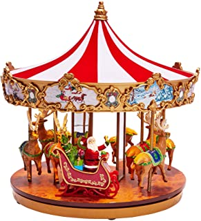 BrylaneHome Mr. Christmas Very Merry Carousel - Multi