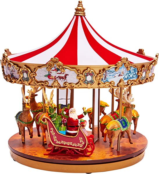 BrylaneHome Very Merry Carousel Multi