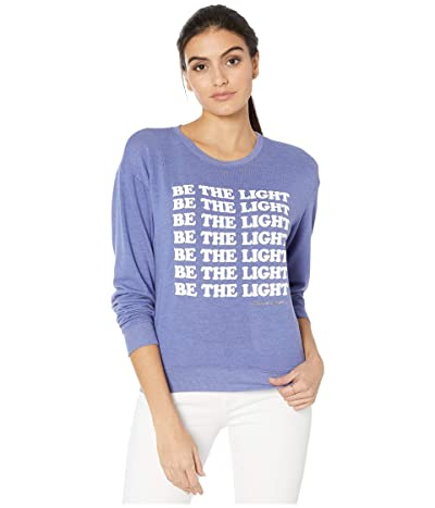 Spiritual Gangster Crew Neck Savasana Sweatshirt (Light Night Blue) Women