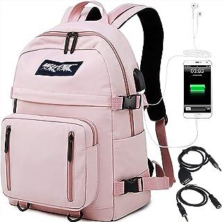 comprar comparacion HASAGEI Mochila Escolares Juveniles para 15.6'' Portátil Mochila Unisex de Carga USB Backpack Resistente Al Agua Universit...