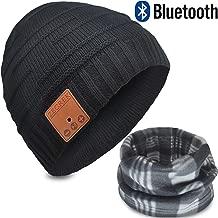 Bluetooth Beanie Hat Headphones V4.2 Wireless Musical Winter Knit Hat Cap w/Built-in 2 HD Stereo Speakers & Mic Gifts for Men/Dad/Women/Mom/Teen Boys/Girls Stocking Stuffer