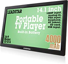 LEADSTAR 14 Inch Portable Digital ATSC TFT HD Screen Freeview LED TV for Car, Caravan, Camping, Outdoor or Kitchen. Built-...