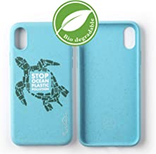 Wilma Eco-Friendly Biodegradable Compatible with iPhone X, iPhone Xs Case, Stop Ocean Plastic Pollution, Plastic-Free, Zero Waste, Non-Toxic, Fully Protective Phone Cover – Turtle