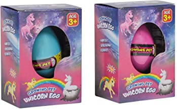 Set of 2 Surprise Growing Unicorn Hatch Egg Kids Toys, Pink and Blue
