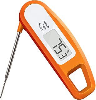 Lavatools PT12 Javelin Digital Instant Read Meat Thermometer for Kitchen, Food Cooking, Grill, BBQ, Smoker, Candy, Home Brewing, Coffee, and Oil Deep Frying (Orange)