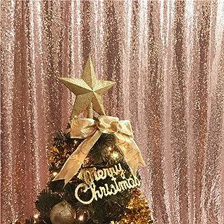 trlyc 3Ft * 2,1Shimmer Pailletten Stoff Fotografie Hintergrund für Hochzeit auf Verkauf Farben sind erhältlich 3ft*7ft sequin backdrop TRLYC Rose Gold