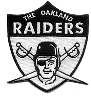 Oakland Raiders 1963 Retro Raider Nation for Life Football Iron-on Jersey Patch