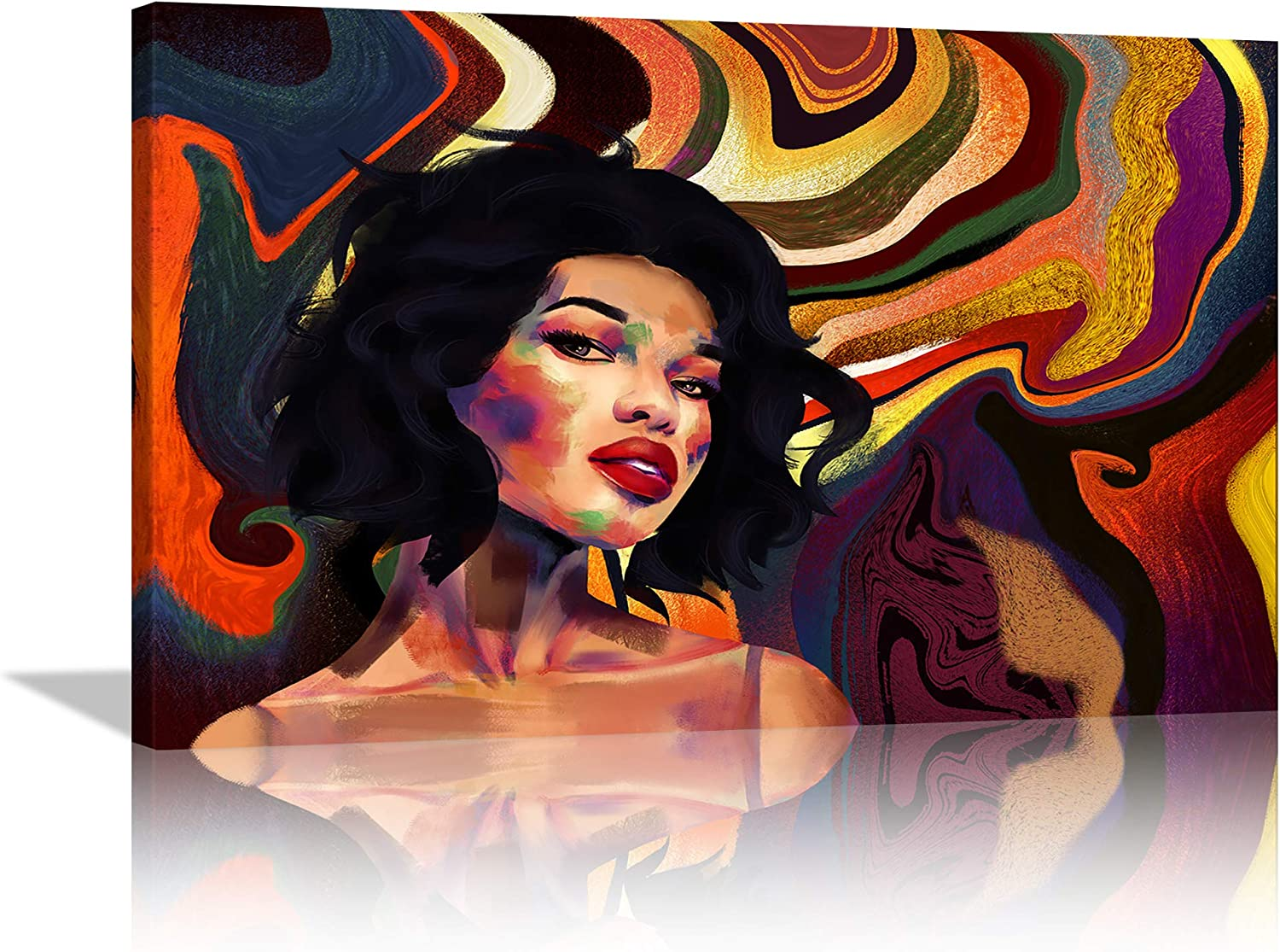 AMEMNY Fixed price for sale Black Women Wall African Recommendation Art American Abstract