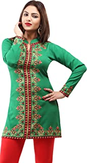 Maple Clothing Women's Indian Kurti Tunic Tops Printed India Blouse Apparel