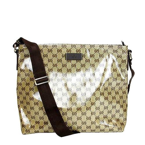 89606a9428a65c Gucci Unisex Brown Crystal Canvas GG Messenger Bag 339569 9790