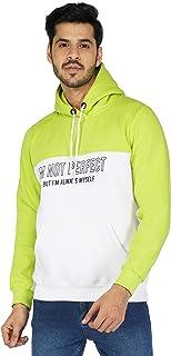 Urban Age Clothing Co. Men's Cotton Blend Heavyweight Fleece Printed I'm NOT Perfect BUT I'm Always Myself Hoodie Sweatshi...