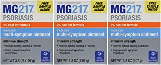 MG217 Medicated Tar Ointment, Psoriasis Treatment, Intensive Strength, 3.8 oz. 3 pack