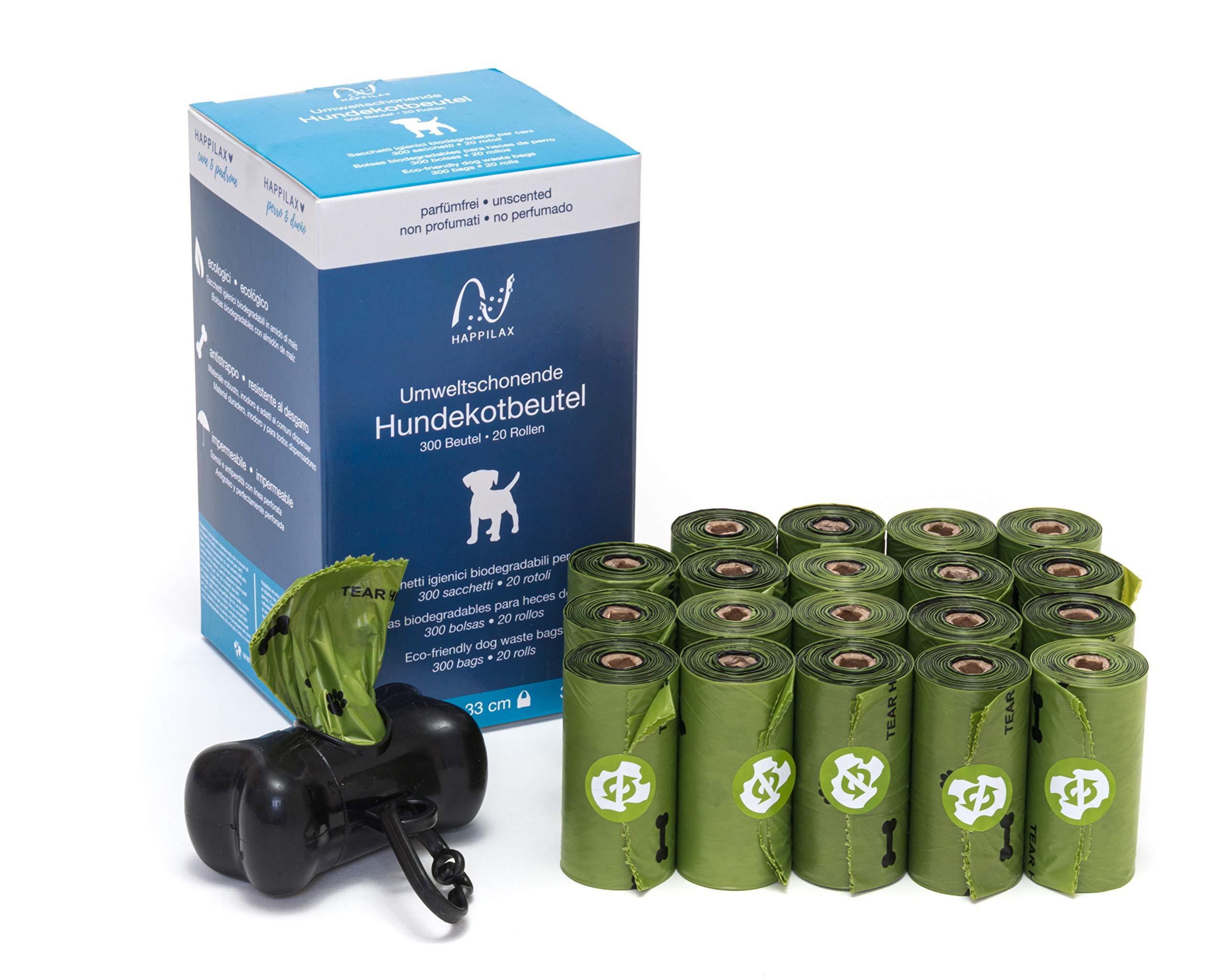 Happilax Bolsas para excrementos de Perros biodegradables con ...