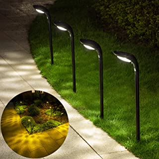 JSOT Outdoor Solar Path Lights Landscape Pathway Light with 2 Modes [Cool White & Warm White] IP65 Waterproof LED Spot Lig...