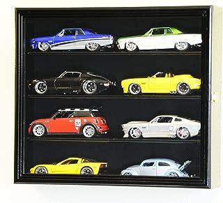 1/24 Scale Diecast Model 8 Cars Display Case Rack Holder Holds 8 Cars 1:24 (Black Finish)
