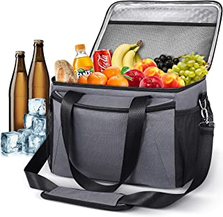 MOVTOTOP Cooler Lunch Bag, 24-Can Insulated Soft Cooler Collapsible Leakproof Lunch Box for Men Women with 12H Long Cooling Time, Portable Cooler Bag for Camping, Picnic, Beach