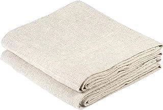 BLESS LINEN Natural Huckaback Pure Linen Hand Kitchen Towel, 16 x 30 Inches, Set of 2