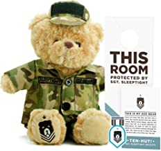 ZZZ Bears SGT. Sleeptight Army Teddy Bear - Military Plush Toy, Four Step Sleep System to Help with Bedtime (Army Camouflage)