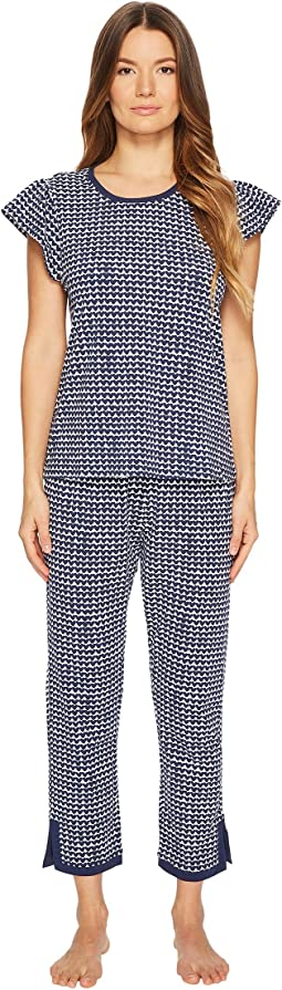 Kate Spade New York - Flutter Sleeve Mini Heart Pajama