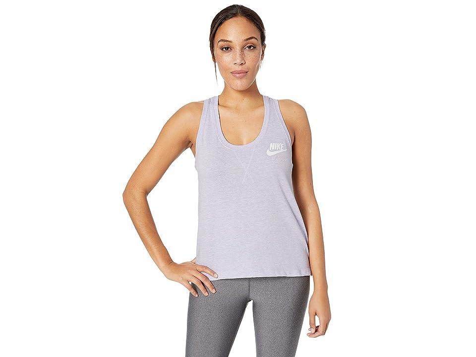 Nike Sportswear Gym Vintage Tank (Oxygen Purple/Sail) Women