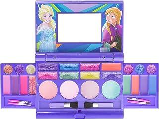 Townley Girl Disney Frozen Elsa and Anna Beauty Kit, Kids Washable Lip Gloss Compact Set