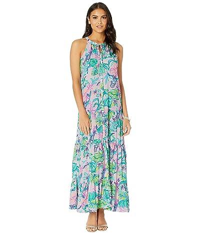 Lilly Pulitzer Luliana Maxi Dress (Amethyst Tint Mermaid In The Shade) Women