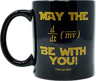 Funny Guy Mugs May The Force Be With You Equation Ceramic Coffee Mug, Black, 11-Ounce
