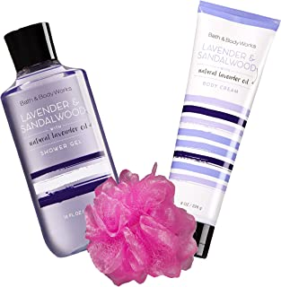 Bath Body Lavender and Sandalwood Moisturizing Wash Shower Gel and Lotion with Shea Butter Cream.
