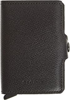 SECRID Mens Twin-wallet Crisple Black