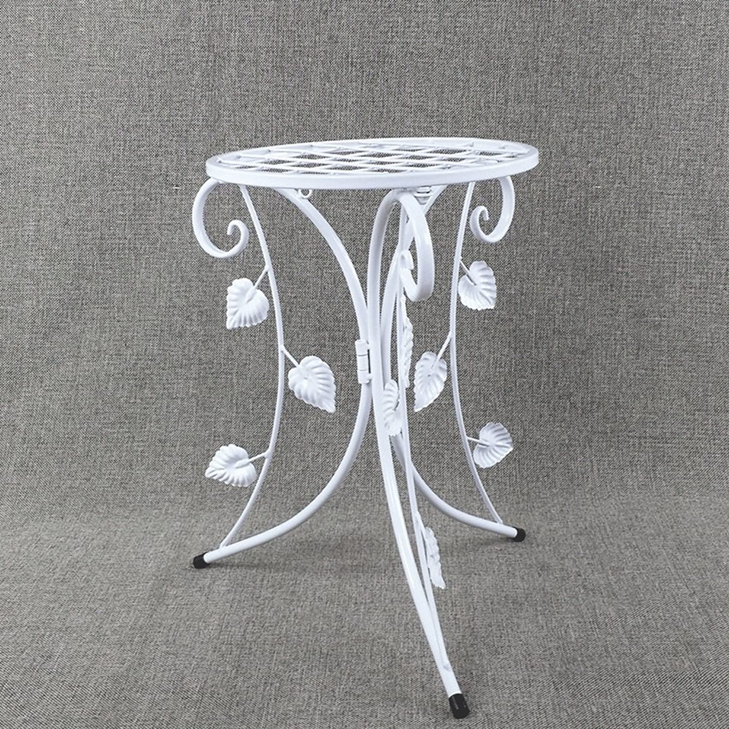 SYF Simple Folding Flower Stand European Indoor Living Room Bedroom Flower Stand Wedding Decoration Iron Single Basin Flower Stand 34x34x41cm A+ (color   B)
