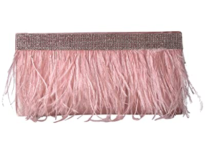 Jessica McClintock Francine Feather Clutch (Tea Rose) Handbags