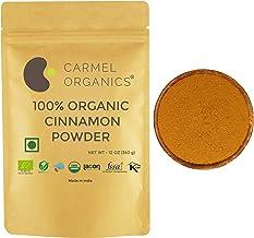CARMEL ORGANICS USDA Certified Cinnamon Bark Powder || 340 Grams