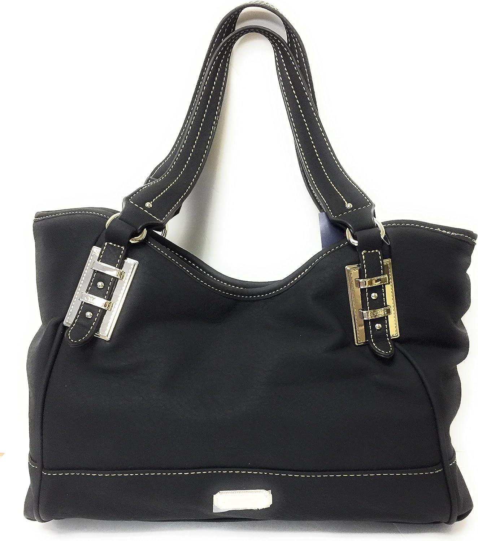 Chaps Courtney 4 Poster Shoulder Handbag Black