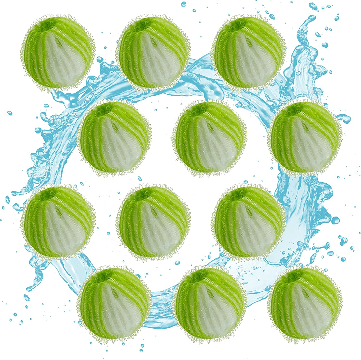 K-EYKONG Pet Hair Remover for Laundry, Pack of 12 Reusable Lint Remover, Washing Machine Hair Catcher, Washing Balls Dryer Balls for Clothing Dog Cat Pet Fur Remover…