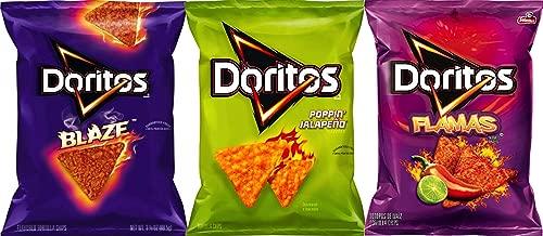 NEW Doritos Mix Up Doritos Blaze, Popping Jalapeño & Flamas 3.12 Oz (pack of 3)