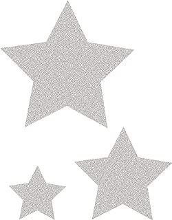Silver Glitz Stars Accents - Assorted Sizes