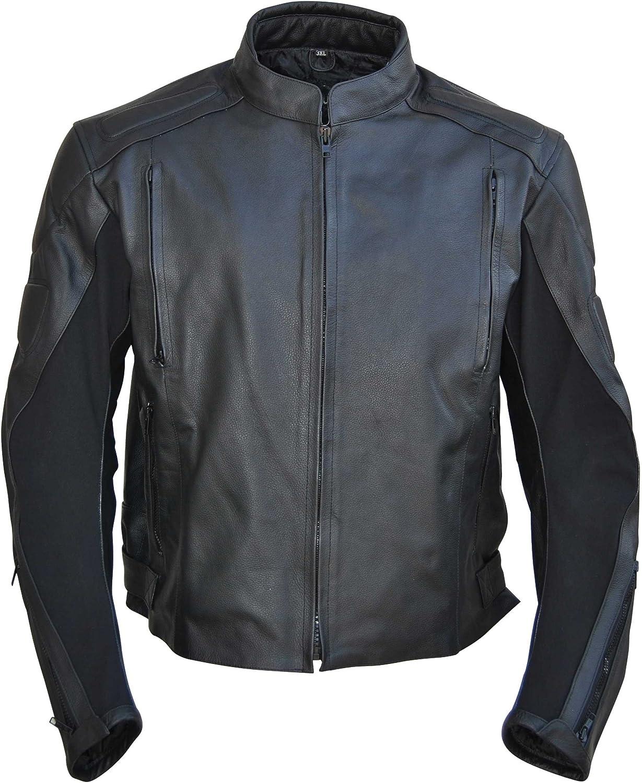 Classyak Men's Motorcycle Genuine Leather Jacket