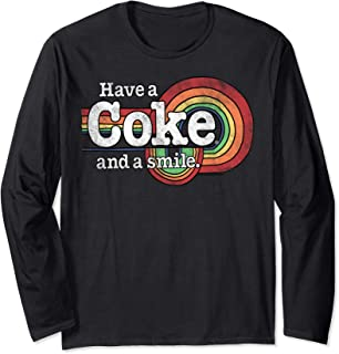 Have A Coke And A Smile Retro Logo Long Sleeve T-Shirt