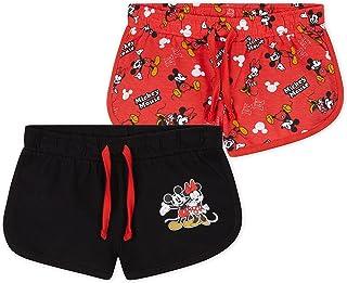 Disney Pantalon Corto Niña, Pack De 2 Pantalones Cortos de Mickey y Minnie Mouse, Ropa Niña de Algodón, Regalos para Niñas...