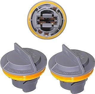 APDTY 034145 Tail Lamp Light Bulb Plastic Socket Holder Pack Of 3 Fits Rear Left or Right Turn Signal Brake or Reverse Lig...