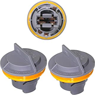 APDTY 034145 Tail Lamp Light Bulb Plastic Socket Holder Pack Of 3 Fits Rear Left or Right Turn Signal Brake or Reverse Light For Chrysler Plymouth Dodge Jeep (Taillight 3-Pack, Replaces 4676589)