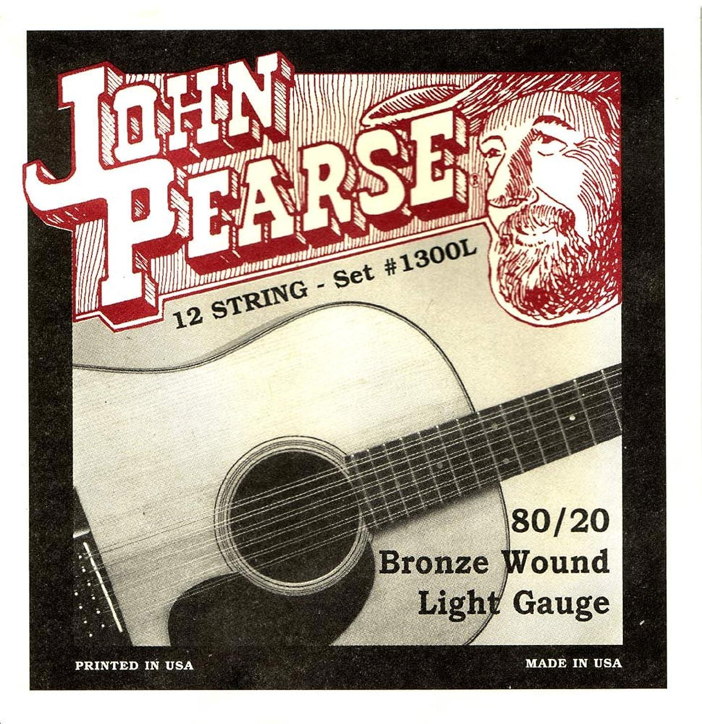 John Pearse P1300L Bronze Acoustic Guitar Strings, Medium