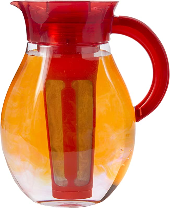 Primula The Big Iced Tea Maker 1 Gallon Beverage Pitcher Red