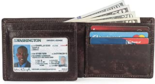 RFID Leather BiFold Wallet For Men With 1 ID Window 9 Credit Card Slots comes in a Gift Box